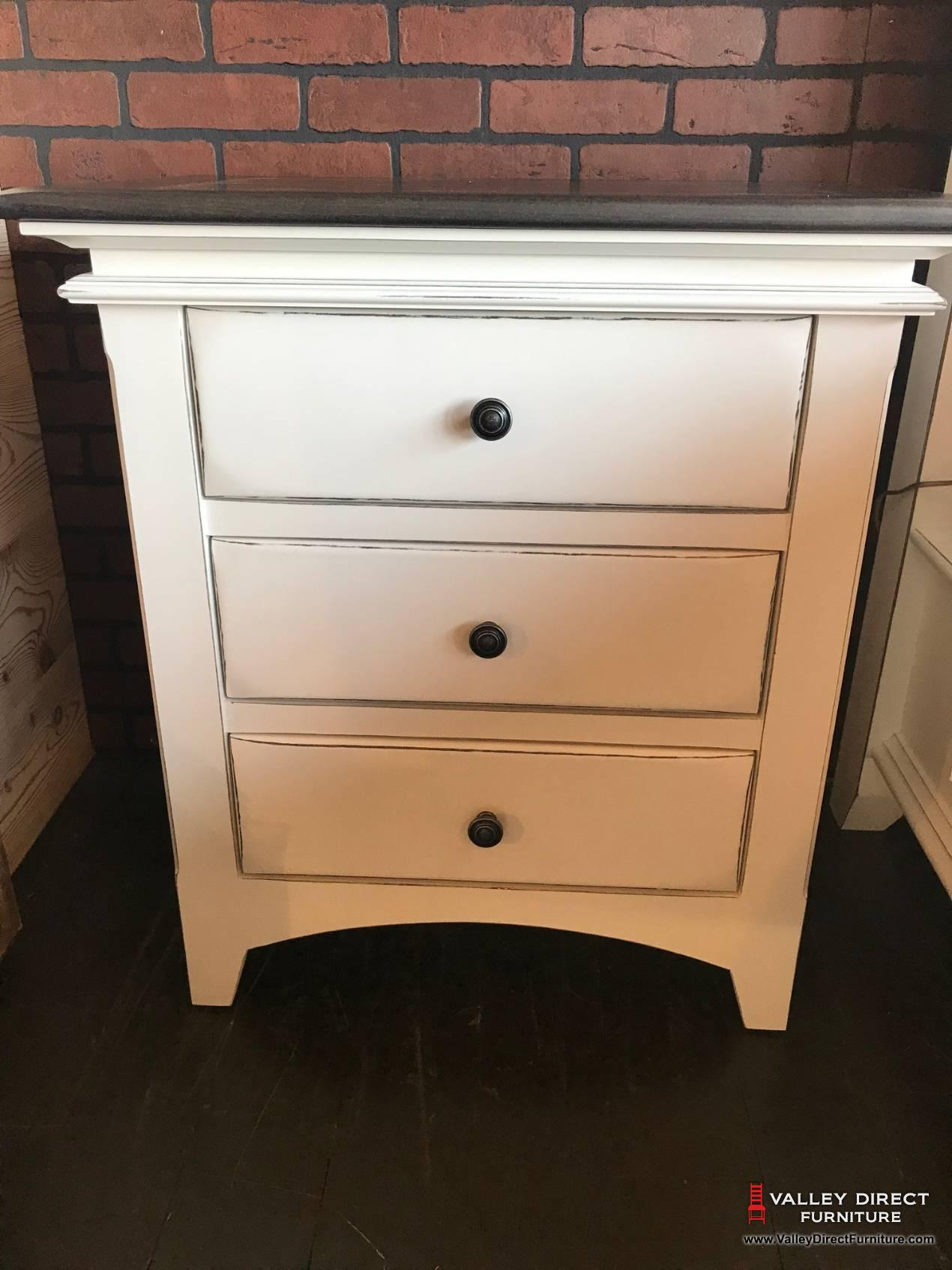 Riviera 3 Drawer Nightstand Bedroom Night Stands Tmh
