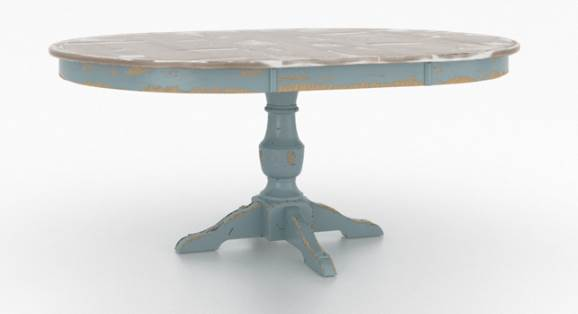 Champlain Round Single Pedestal Xp Dining Table Dining
