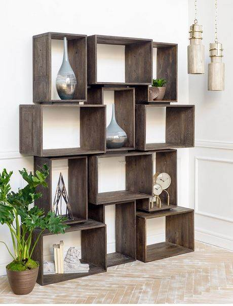 Simul Set Of 2 Boxes Living Room Bookcase Units Mercana Furniture And Decor Langley