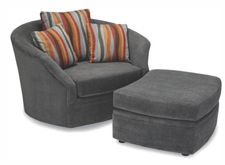 Whirl Swivel Chair And Ottoman Living Room Fabric
